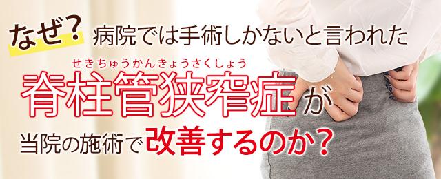 神戸 灘区 脊柱管狭窄症